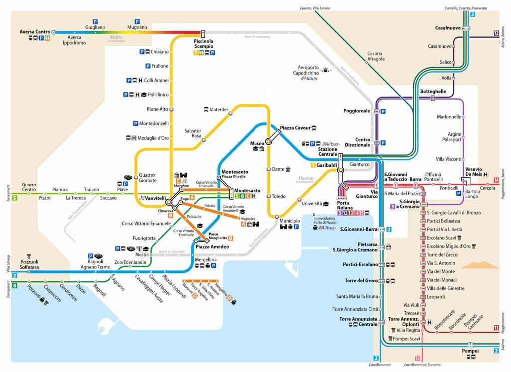 La Cartina Di Napoli.Mappa Per Napoli Ufficiale Cityrailways